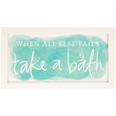 Take a Bath Framed Wall Decor